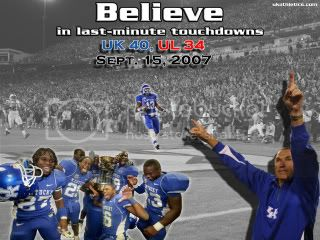 2007UK-ULGame.jpg UK 40, UofL 34...09/15/07 picture by sburks40